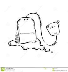 tea bag drawing.  Drawing Vector Tea Bag Intended Tea Bag Drawing