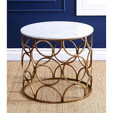 roland round faux marble coffee table