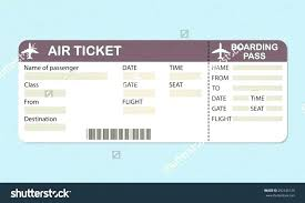 Airline Ticket Template Word Extraordinary Pretend Plane Ticket Template