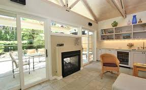 indoor outdoor fireplace double sided interior house designs