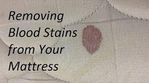 blood sns out of a mattress