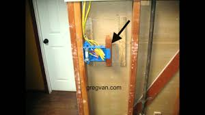 3 gang electrical box backing home building tips youtube how to wire a double outlet box at Gang Box Wiring