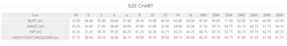 Bridesmaid Dress Size Chart Dessy Bridesmaid Dresses Be In The Know Wedding Shoppe Inc