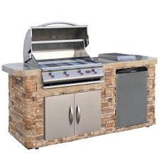 kenmore natural gas grill. natural stone grill island with 4-burner gas in kenmore r