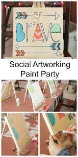 Paint Party Designs How To Throw A Social Artworking Paint Party Paint Party