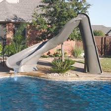 Backyard pool with slides Inground Reviews Pinterest Turbo Twister Pool Slide Pool Accessories Poolproductscom