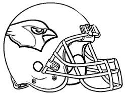 Nfl Football Helmets Coloring Pages Helmet Arizona Black And White