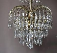 crystal chandelier lamp 7 of 8 waterfall pendant antique french vintage glass crystal chandelier lamp old