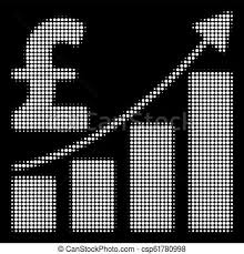 White Growth Chart White Halftone Pound Sales Growth Chart Icon