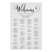 Calligraphy Wedding Seating Chart Zazzle Art