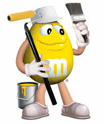 peanut m m painting the town yellow find this pin and more on m