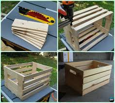 how to make wood crate instruction diy wine wood crate coffee table free plans