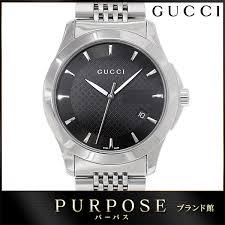 gucci 126 4. gucci gucci g thymeless ya126402 men watch 126 4 date black lindera board quartz [used] 3