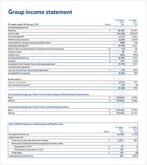 Financial Statements Format Templates Sample Income Statement Example 8 Free Documents Download In Pdf