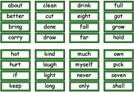 Dolch Sight Words Free Flash Cards And Lists For Dolch High