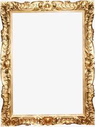 frame. European Gorgeous Vintage Photo Frames, Continental Frame, Ornate Retro Frame PNG Image E