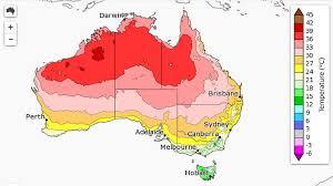 Average maximum temperatures in Australia from October to December 2017.  (BOM)