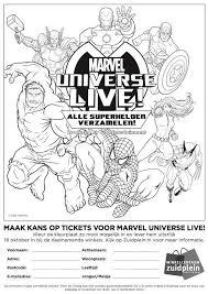 Kleurplaten Marvel Superhelden
