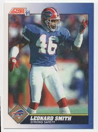1991 Score Leonard Smith #28 on Kronozio