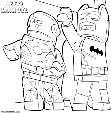 Lego Marvel Superheroes Coloring Pages With Avengers Super Hero