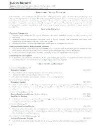 Sample General Manager Resume Bar General Manager Resume Example Examples Assistant Restaurant