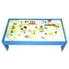 melissa and doug train table and activity table train babies wooden with optional railway set multi melissa and doug train table