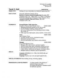 bank teller resume objective best business template good resume for bank teller