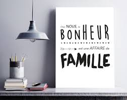 Affiche Bonheur En Famille