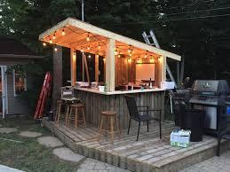 tiki bars backyard diy outdoor bar