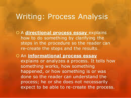 process analysis essay  writing process analysis a directional process essay
