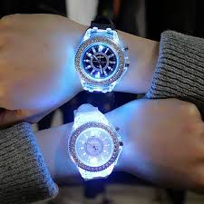 Buy <b>led Flash Luminous Watch</b> Personality trends students lovers ...