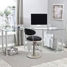 modern glass office desk. Modern White Wooden Elegant Computer Desk With Intended For Glass Drawers Office T