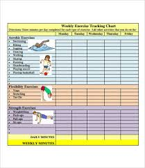 Day By Day Exercise Chart Exercise Chart 7 Free Pdf Documents Download Free