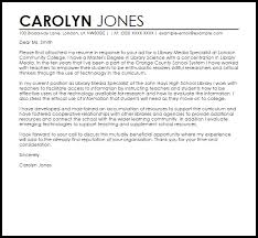 cover letter for librarians library media specialist cover letter sample cover letter