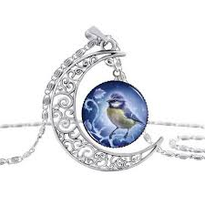 2019 blue bird necklace pendant cabochon glass accessories creative uni jewelry gifts from timegemcabochon 0 91 dhgate com