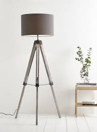tripod lamp for sitting room need darker wood and mid grey shade