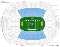 Lambeau Field Seating Chart Lambeau Field 400 Level Sideline Outdoor Club Football