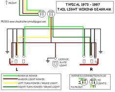 chevy truck cab and chassis wiring diagrams chevy c headlight and tail light wiring schematic diagram typical 1973 1987 chevrolet truck