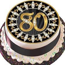 80th Birthday Cake Decorations Amazoncouk
