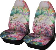 watercolor fl car seat covers set of two
