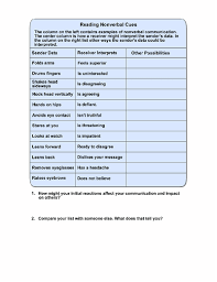 non verbal communication worksheets worksheets kids voice social