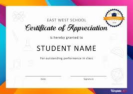 Free Appreciation Certificates Printable Certificates Of Appreciation Luxury 30 Free