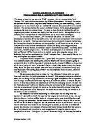 compare and contrast the two sonnets shall i compare thee to a page 1 zoom in
