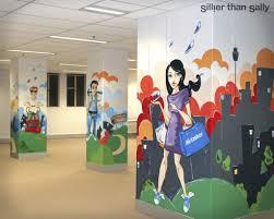 office wall murals. airtasker wall mural sillier than sally street art sydney artist office murals