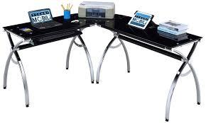 the techni mobili hip black glass corner computer desk