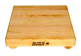 john boos small maple cutting board with bun feet 9 or squares square butcher block custom