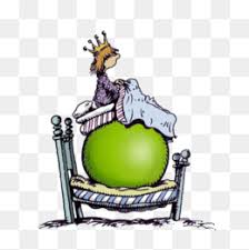 princess and the pea illustration. hand painted princess pea illustration, princess, fairy tale png image and the illustration