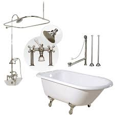 randolph morris 60 inch clawfoot tub shower package with british within faucet design 8