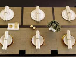 Designers Collection Placemats Basketweave Placemat In New Gold Rectangle Square