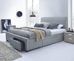 Jersey King Storage Bed Frame Light Grey